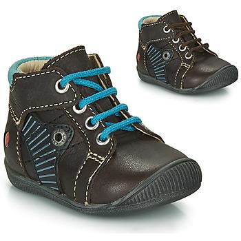 Schoenen Jongens Laarzen GBB NATALE Brown / Blauw