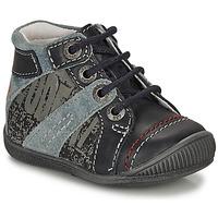 Schoenen Jongens Laarzen GBB NOLAN Grijs / Blauw