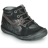 Schoenen Meisjes Laarzen GBB NORA Zwart / Zilver