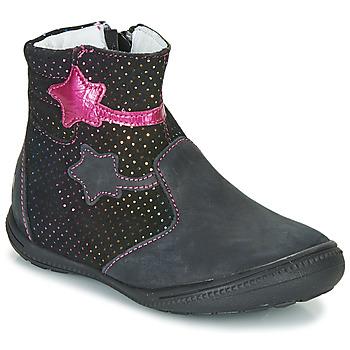 Schoenen Meisjes Laarzen GBB NADIA Zwart / Roze