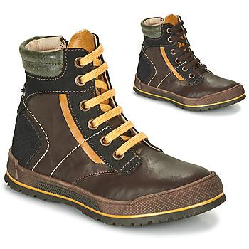 Schoenen Jongens Laarzen Achile MANUEL Brown / Geel
