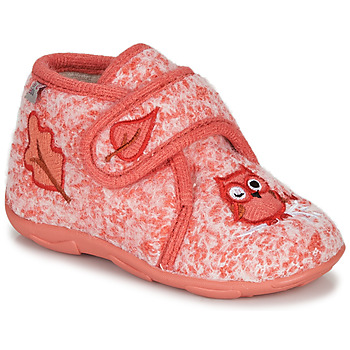 Schoenen Meisjes Sloffen GBB NEOPOLO Roze / Rood