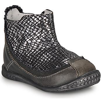 Schoenen Meisjes Laarzen Ikks SCARLET Zwart / Zilver