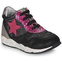 Schoenen Meisjes Lage sneakers Ikks KAREN Zwart / Roze