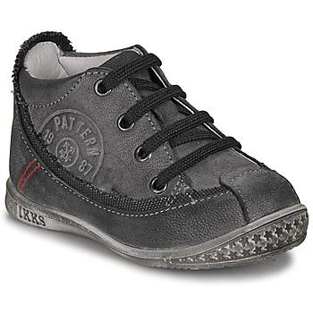 Schoenen Jongens Laarzen Ikks STEVEN Antraciet