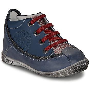 Schoenen Jongens Laarzen Ikks STEVEN Marine / Rood