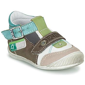 Schoenen Jongens Sandalen / Open schoenen GBB PAUL Brown / Groen / Blauw