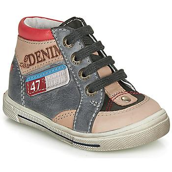 Schoenen Jongens Hoge sneakers GBB PARIS Grijs / Beige