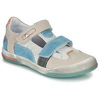 Schoenen Jongens Sandalen / Open schoenen GBB PRINCE Ecru / Beige / Blauw