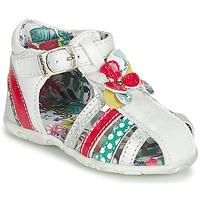 Schoenen Meisjes Sandalen / Open schoenen Catimini PERSAN Wit / Multikleuren