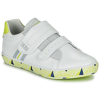 Schoenen Jongens Lage sneakers Ikks JOE Wit / Geel