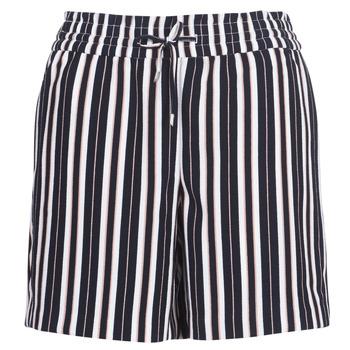 Textiel Dames Korte broeken / Bermuda's Only ONLPIPER Marine / Wit
