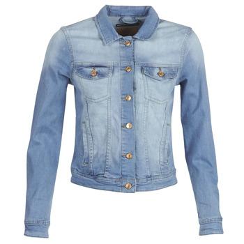 Textiel Dames Spijker jassen Only ONLTIA Blauw / Clair