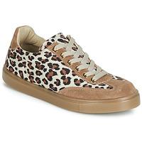 Schoenen Dames Lage sneakers André ARDOISE Leopard