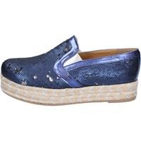 Schoenen Dames Espadrilles Olga Rubini Mocassins BS110 Bleu
