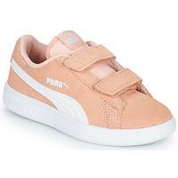 Schoenen Meisjes Lage sneakers Puma SMASH PSV PEACH Corail