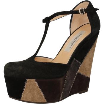 Schoenen Dames Sandalen / Open schoenen Gianni Marra zeppe nero camoscio grigio AK894 Nero