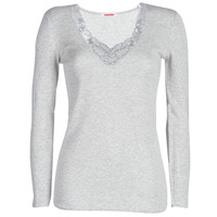 Ondergoed Dames Hemden Damart FANCY KNIT GRADE 4 Grijs