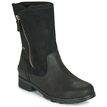 Schoenen Dames Laarzen Sorel EMELIE FOLDOVER Zwart