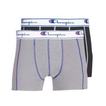 Ondergoed Heren Boxershorts Champion UNI X2 Zwart / Grijs