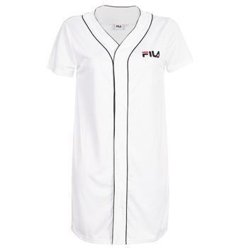 Textiel Dames Korte jurken Fila WOMEN ROBIN button baseball dr Wit