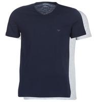 Textiel Heren T-shirts korte mouwen Emporio Armani CC722-111648-15935 Marine / Grijs