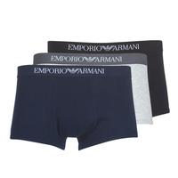 Ondergoed Heren Boxershorts Emporio Armani CC722-111610-94235 Marine / Grijs / Zwart