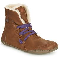 Schoenen Dames Laarzen Camper PEU CAMI Brown
