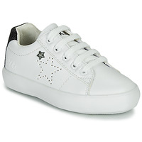 Schoenen Meisjes Lage sneakers Ikks MOLLY Wit / Zwart