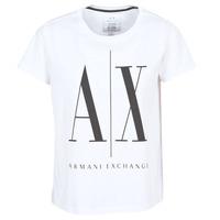 Textiel Dames T-shirts korte mouwen Armani Exchange 8NYTCX-YJG3Z-5102 Wit