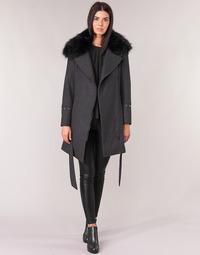 Textiel Dames Mantel jassen Moony Mood LITEA Grijs