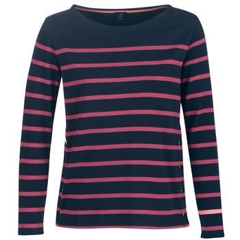 Textiel Dames T-shirts met lange mouwen Armor Lux BRIAN Marine / Roze