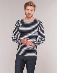 Textiel Heren T-shirts met lange mouwen Armor Lux VERMO Marine / Wit