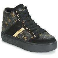 Schoenen Dames Hoge sneakers Guess FIXIN Zwart