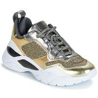 Schoenen Dames Lage sneakers Guess FURNER Zilver / Goud