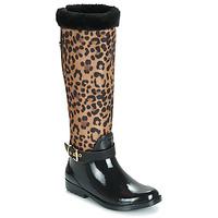 Schoenen Dames Regenlaarzen Guess CICELY Zwart / Leopard