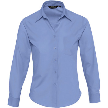 Textiel Dames Overhemden Sols EXECUTIVE POPELIN WORK Azul