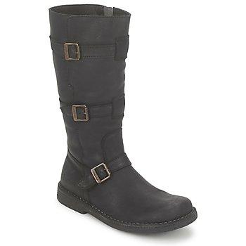 Schoenen Dames Hoge laarzen Kickers LOCKNESS Zwart