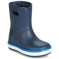 Schoenen Kinderen Regenlaarzen Crocs CROCBAND RAIN BOOT K Marine