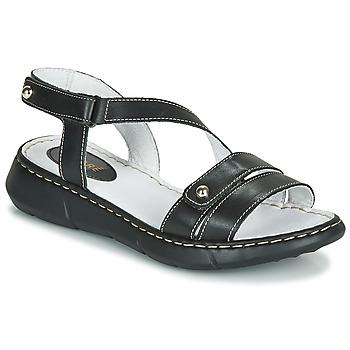 Schoenen Dames Leren slippers André ALIX Zwart