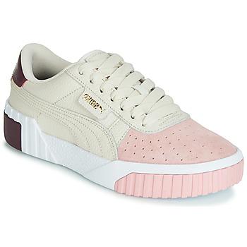 Schoenen Dames Lage sneakers Puma CALI REMIX Wit / Roze