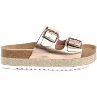 Schoenen Dames Leren slippers Colour Feet TURQUETA Roze