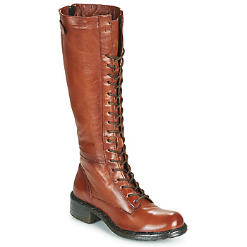 Schoenen Dames Hoge laarzen Dream in Green WADDAH Cognac