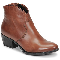 Schoenen Dames Enkellaarzen Dream in Green LALYSSA Cognac