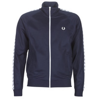 Textiel Heren Trainings jassen Fred Perry TAPED TRACK JACKET Marine