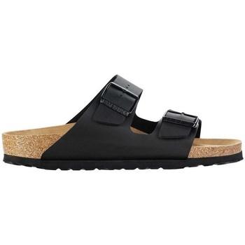 Schoenen Leren slippers Birkenstock Arizona BS W Noir