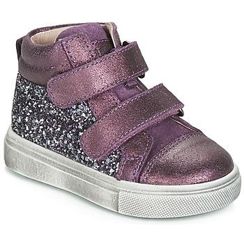 Schoenen Meisjes Hoge sneakers Acebo's 5299AV-LILA-C Violet