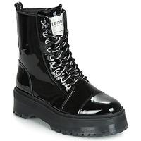 Schoenen Dames Laarzen Bronx RIFKA SUPER CHUNKY Zwart