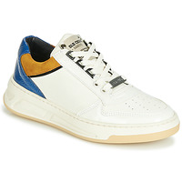 Schoenen Dames Lage sneakers Bronx OLD COSMO Wit / Ocre / Blauw