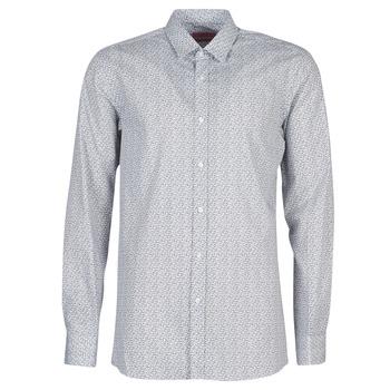 Textiel Heren Overhemden lange mouwen HUGO ELISHA02 Grijs